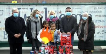 Een 'solidaire' vlam in Fedasil Poelkapelle voor de lokale voedselbank Sint Vincentius