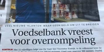 Voedselbank vreest voor overrompeling!